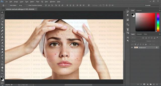 photoshop,eğitim,yüz temizleme,sivilce silme,leke temizleme