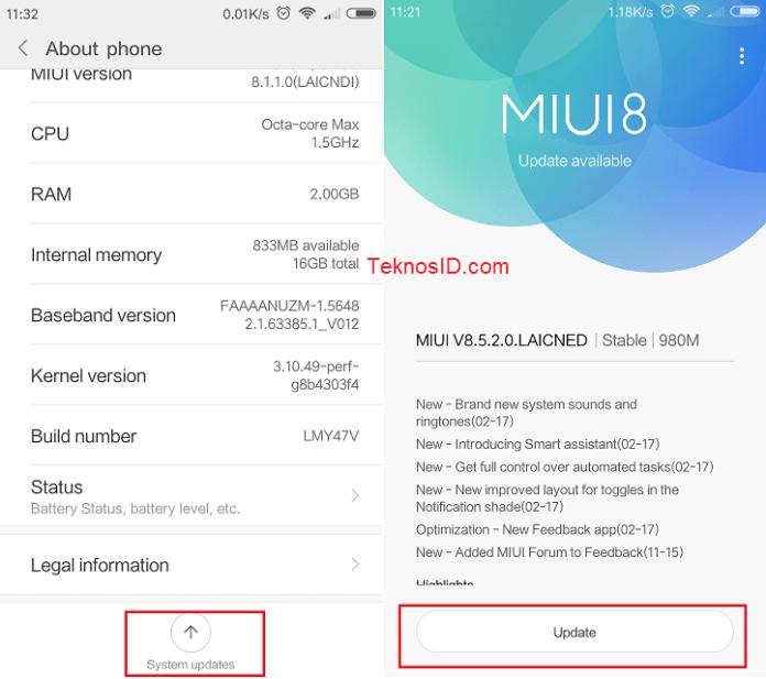 Xiaomi - Update ROM MIUI via Updater