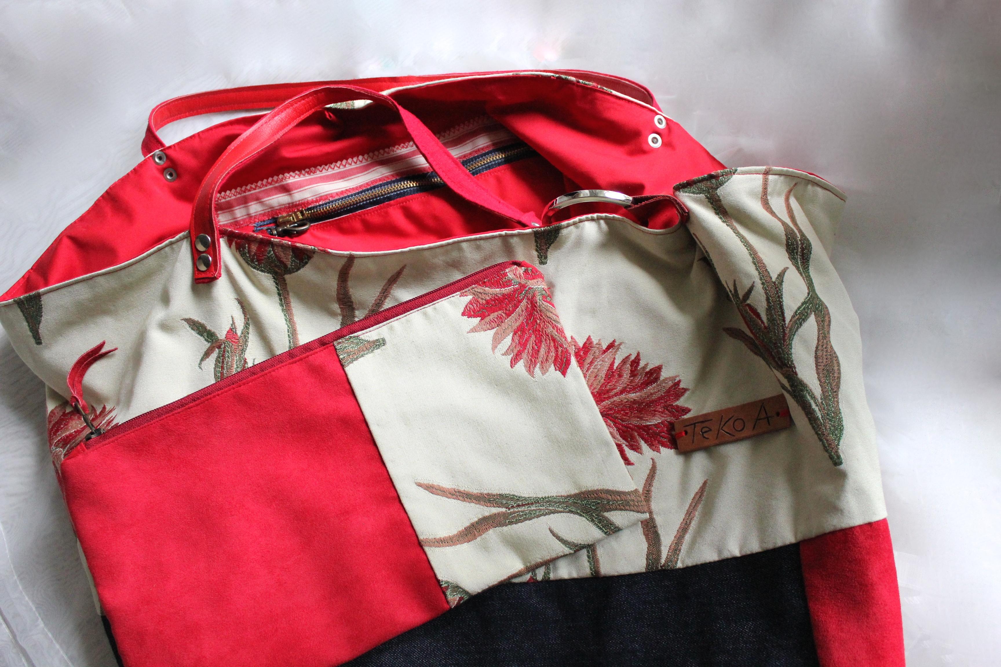 Borse Artigianali Tessuto : Cardi in jeens borsa di tessuto fatta a mano tekoa milano