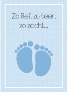 Tekst geboortekaartje prematuur