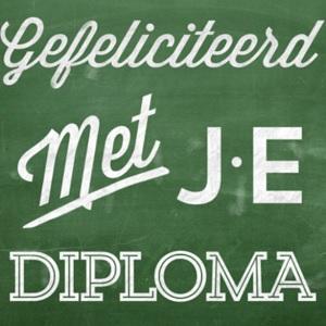 Gefeliciteerd met je diploma