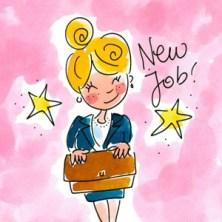 Nieuwe baan gefeliciteerd