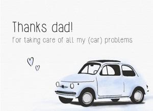 Leuke Vaderdag kaart met tekst
