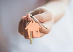 Nieuwe woning sleutelbos
