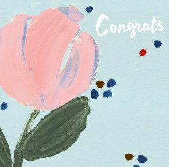 Felicitatie kaart voor een vriendin