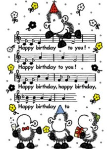 Bladmuziek happy birthday