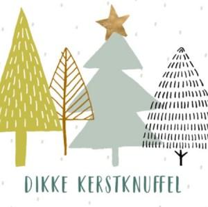 Dikke kerstknuffel kaart