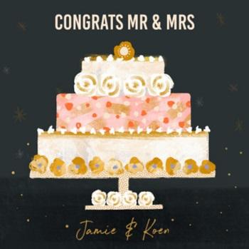 Gefeliciteerd kaart huwelijk