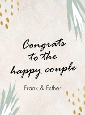 Huwelijk kaart tekst