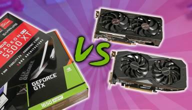 GTX 1650 Super vs RX 5500 XT 4GB