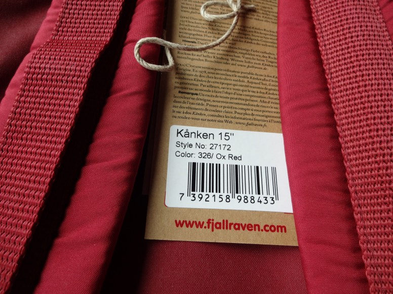 "Fjallraven Kanken 15"" Laptop - Tag"