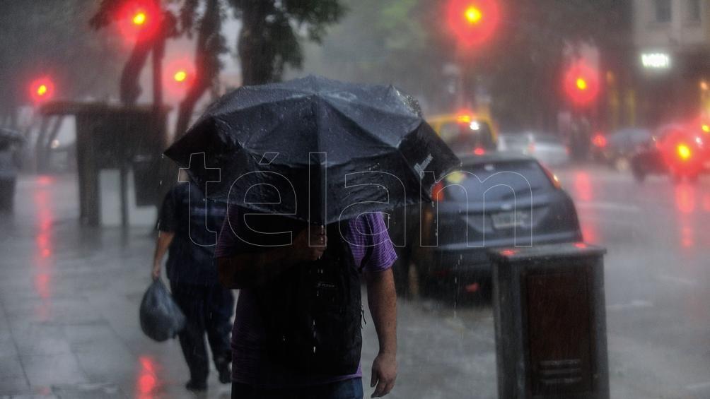 Alerta por tormentas fuertes con lluvia y granizo para distintas zonas del país