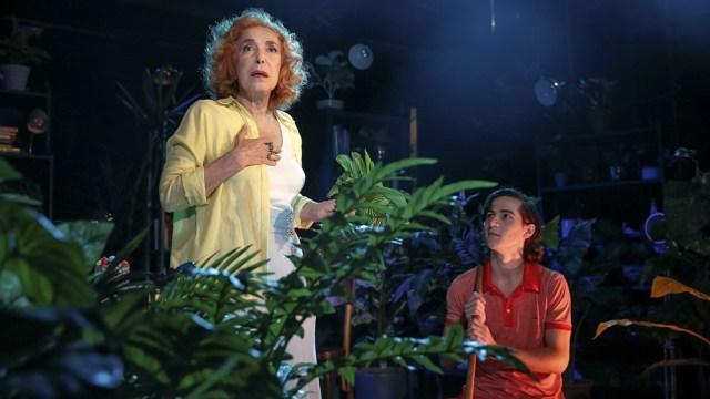 """Busnelli y Constanza Herrera en """"La savia"""", la pieza que se despide esta semana."""