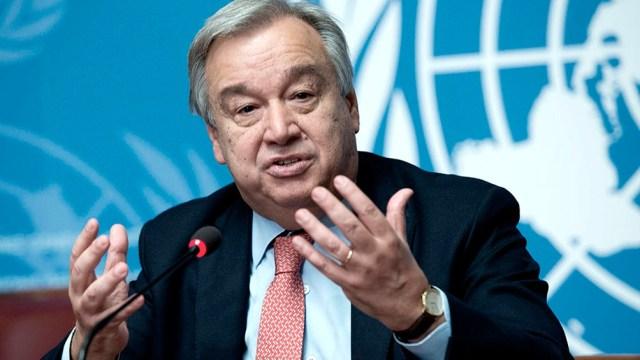 """Las naciones """"deben actuar ya para proteger a las poblaciones contra los efectos desastrosos del cambio climático"""", advirtió el secretario general de la ONU, Antonio Guterres"""