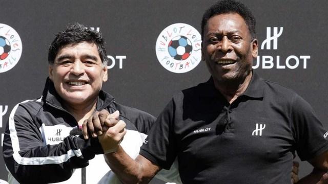 Pel, emocionado por el homenaje a Diego Maradona en Brasil, en la Copa América (Foto archivo)