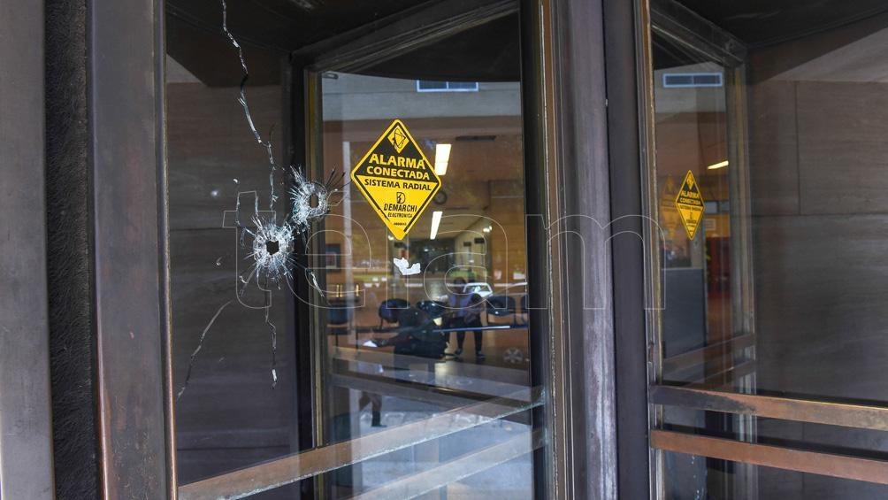 El 14 de agosto de 2018 dispararon contra la sede del Ministerio Público de la Acusación. Foto: Sebastián Granata