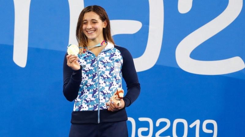Delfina Pignatiello logró tres medallas de oro en Lima.