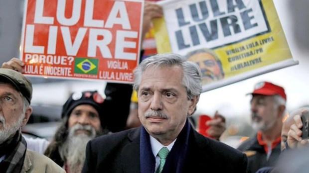 """""""Le agradezco muchísimo a Alberto Fernández porque cuando él era candidato me fue a ver a la cárcel"""", dijo Lula"""