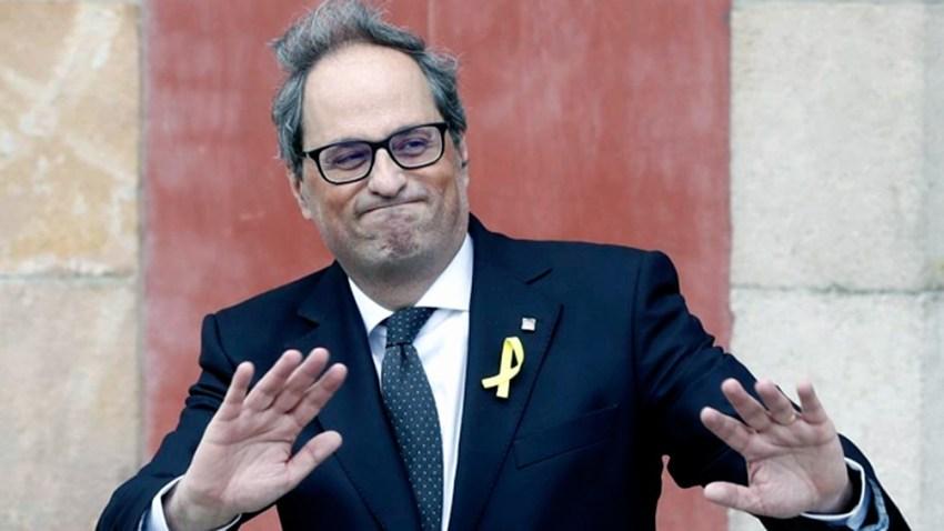 Quim Torra, diputado del Parlamento de Cataluña dentro de las filas de JxCat, fue presidente de Cataluña entre 2018 y 2020.