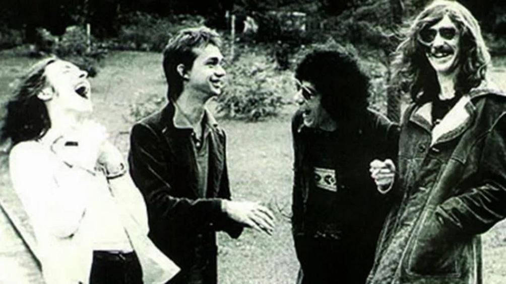 Pedro Aznar, David Lebón, Oscar Moro y Charly García, grandes años de música en Serú Girán.