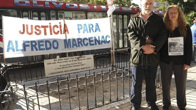 Reclamos de justicia por parte de la familia Marcenac.