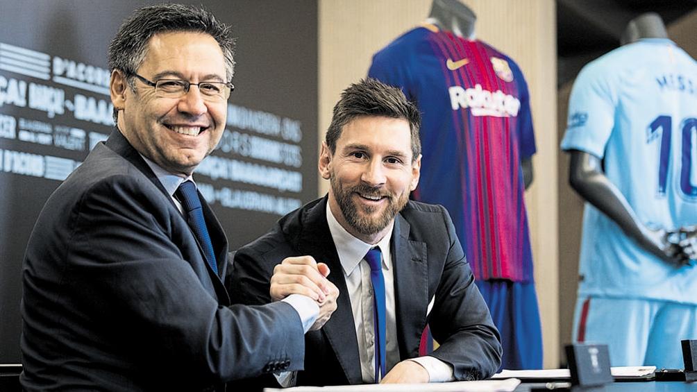 Tiempos de renovación de contrato de Messi en el Barcelona (foto archivo)