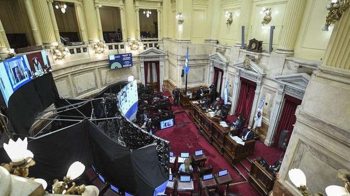 El Senado comenzó a las 15.22 la sesión especial por videoconferencia