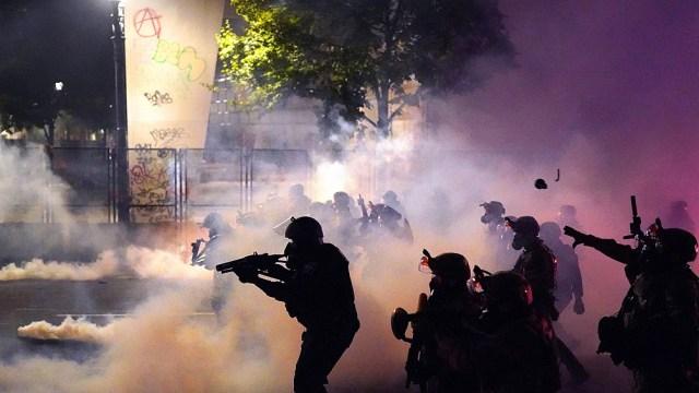Represión en Portland