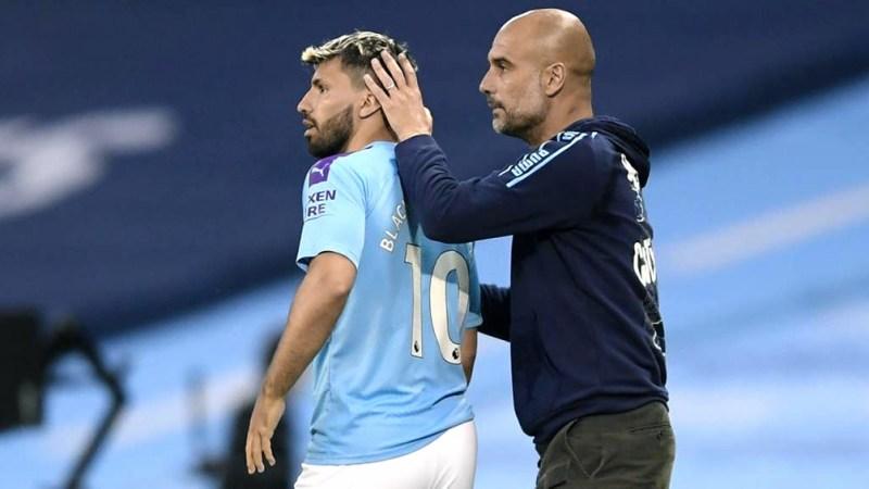 Guardiola y Agüero.