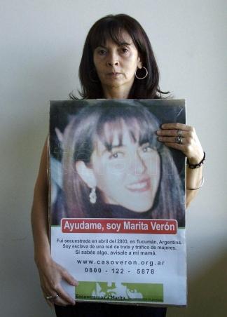 """María de los Ángeles """"Marita"""" Verón fue secuestrada y desaparecida en San Miguel de Tucumán."""