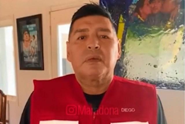 """Maradona: """"Yo le pido al pueblo argentino que apoye a este Gobierno""""."""