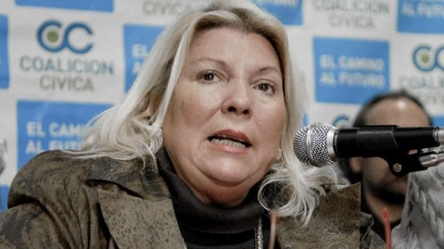 """Carrió se diferenció de otros dirigentes de JxC y dijo que ella """"no hace política"""" con la pandemia."""