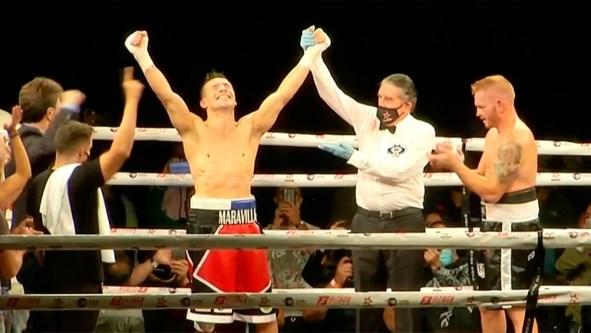 """Sergio """"Maravilla"""" Martínez ganó en su regreso al boxeo, tras seis ..."""