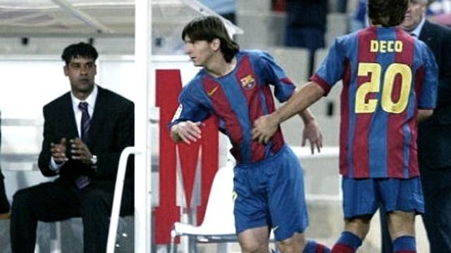 """El debut de """"Leo"""" con la camiseta del Barcelona, en la """"era"""" Rijkaard"""
