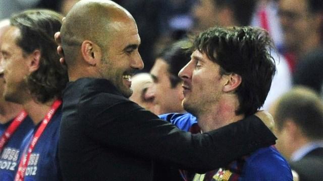 Guardiola y Messi, en tiempos de Barcelona
