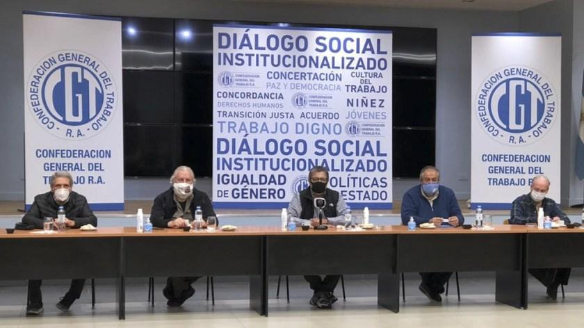 Reunión entre la CGT y trabajadores de la economía popular