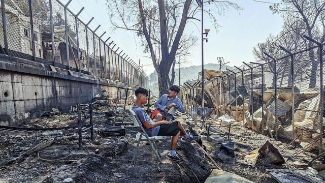 Los incendios del año pasado devastaron Moria, por entonces el mayor campamento de refugiados de Europa.
