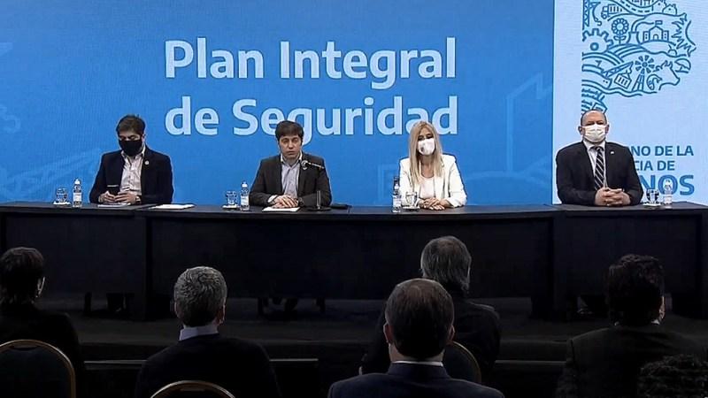 Kicillof anunció un plan integral de seguridad para el distrito.