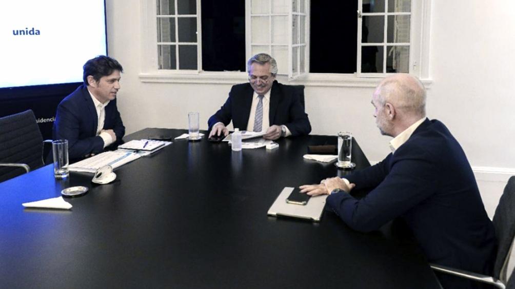 Fernández recibe a Kicillof y Rodríguez Larreta en la residencia de Olivos
