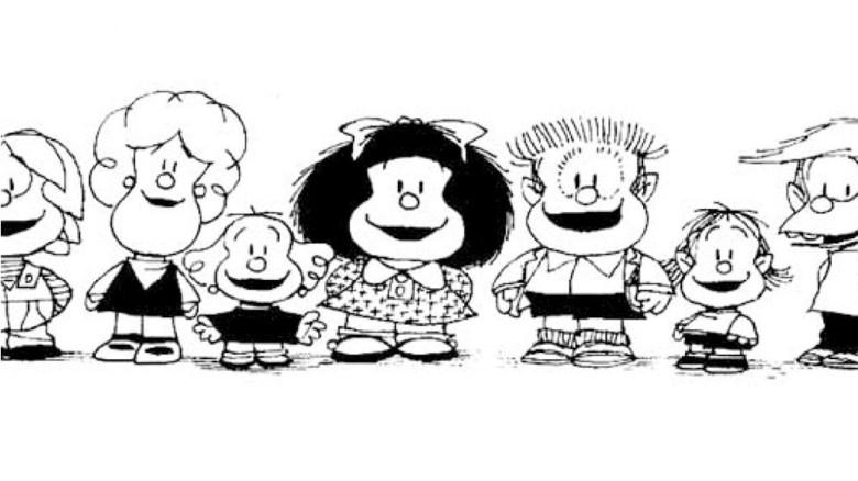 Mafalda y su repertorio de personajes entrañables.