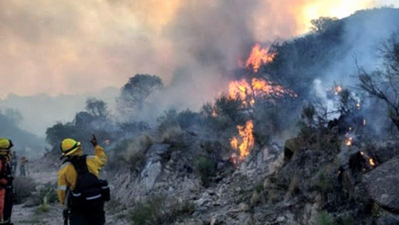 Los incendios se ubican entre las localidades de Las Palomas y Blade de Escudero, a 10 kilómetros del bajo de Veliz.