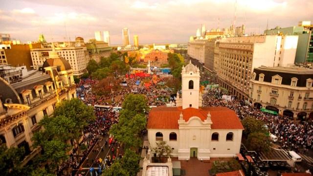 La Plaza de Mayo, el lugar de los grandes hitos del peronismo.