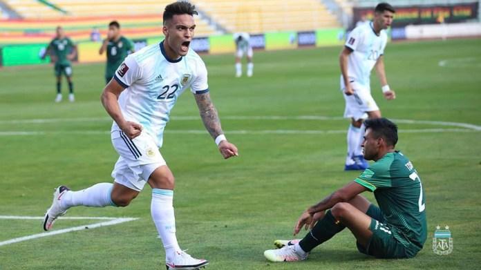 """Martínez y el primer grito """"albiceleste"""" en la altura de La Paz, en la última victoria en Bolivia"""