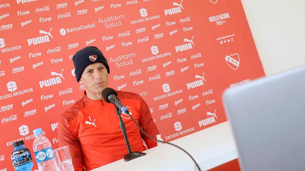 Sosa, en conferencia de prensa (foto:@independiente)