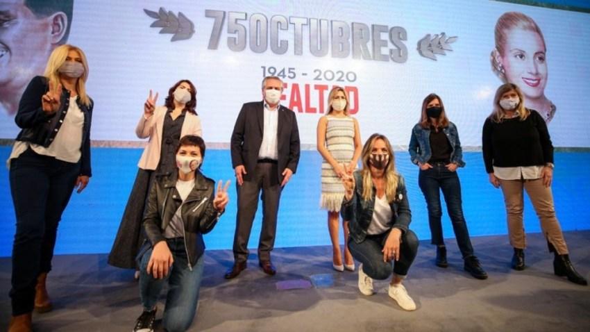 El acto de 2020 en la CGT, en plena pandemia.