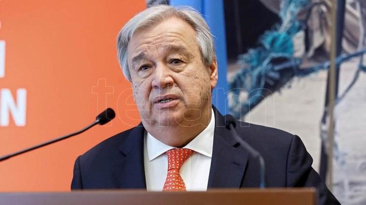 Guterres llamó a las naciones a formar una coalición para reducir las emisiones de carbono.