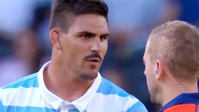 Matera, capitán de Los Pumas, y su análisis tras el empate ante Australia (foto: Imagen TV)