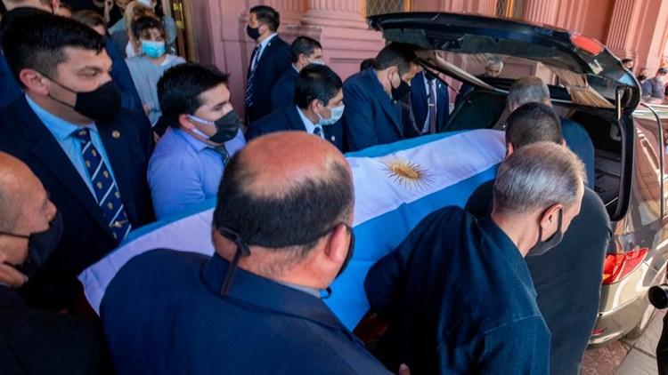 El Estado nacional rindió todos los honores para el astro argentino campeón del mundo.
