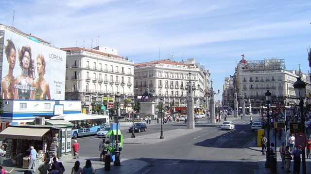 La marcha principal en la capital fue desde la sede del Ayuntamiento hasta la plaza de la Puerta del Sol.