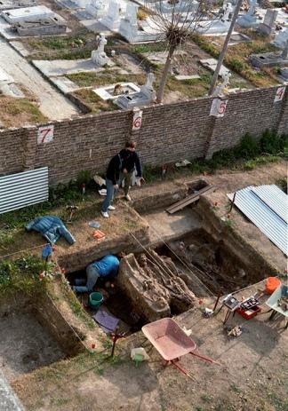 Una de las fosas comunes donde el EAAF encontró restos humanos sin indentificar.